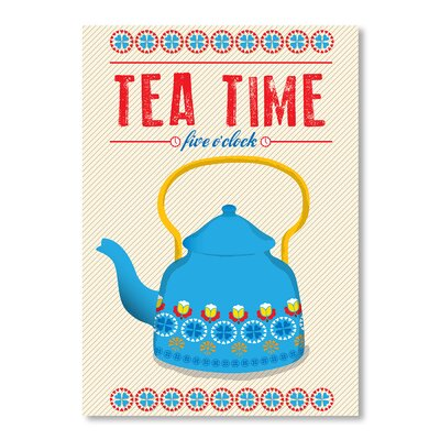 Americanflat Tea Time by Patricia Pino Graphic Art in Blue