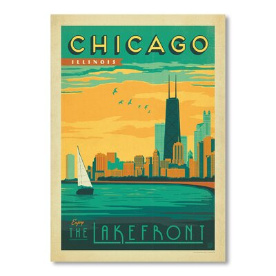 Americanflat Chicago 1011 by Anderson Design Group Vintage Advertisement Wrapped on Canvas