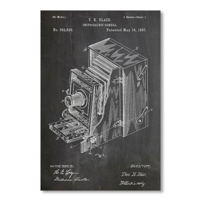 Americanflat Photographic Camera by House of Borders Graphic Art in Grey