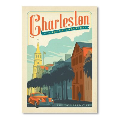 Americanflat Charleston 1002 by Anderson Design Group Vintage Advertisement Wrapped on Canvas