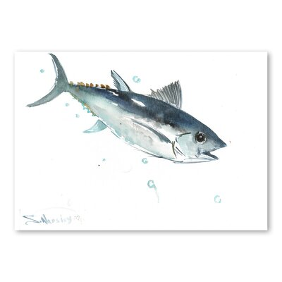 Americanflat Fish II by Suren Nersisyan Art Print in Grey