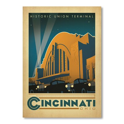 Americanflat Cincinnati by Anderson Design Group Vintage Advertisement Wrapped on Canvas