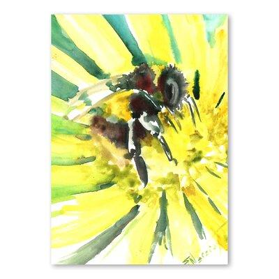 Americanflat Flower Bee III by Suren Nersisyan Art Print in Yellow