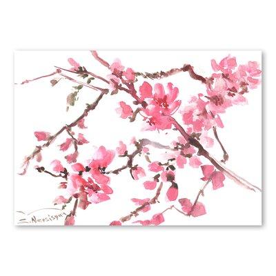 Americanflat Flowers by Suren Nersisyan Art Print in Pink
