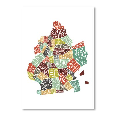 Americanflat Brooklyn by Joe Brewton Typography Wrapped on Canvas