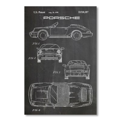 Americanflat Porsche 911 New by House of Borders Graphic Art in Grey