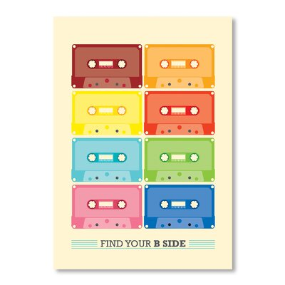 Americanflat Cassette Vintage by Patricia Pino Graphic Art