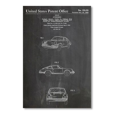 Americanflat Porsche 911 by House of Borders Graphic Art in Grey