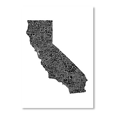 Americanflat California by Joe Brewton Typography Wrapped on Canvas