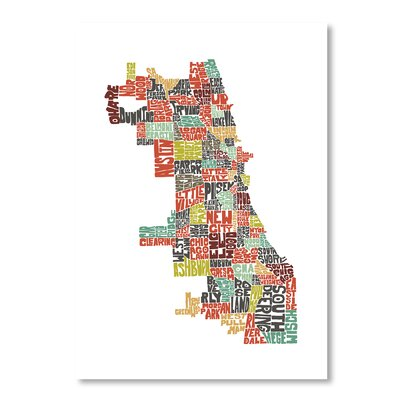 Americanflat Chicago by Joe Brewton Typography Wrapped on Canvas