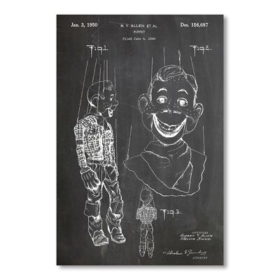 Americanflat Puppet by House of Borders Graphic Art in Grey
