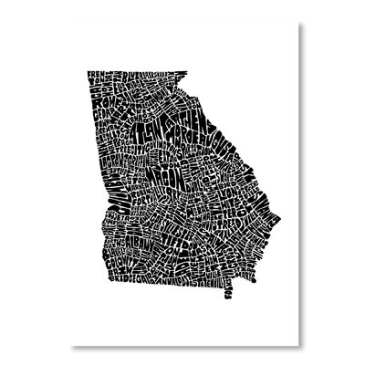 Americanflat Georgia by Joe Brewton Typography Wrapped on Canvas