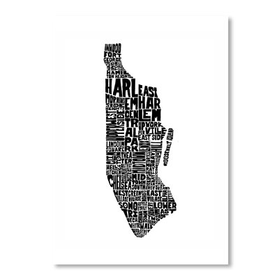 Americanflat Manhattan by Joe Brewton Typography Wrapped on Canvas