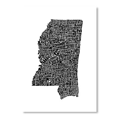 Americanflat Mississippi by Joe Brewton Typography on Canvas