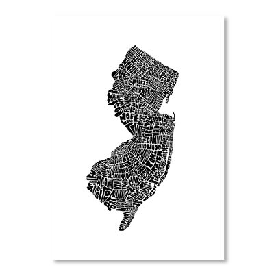 Americanflat New Jersey by Joe Brewton Typography in Black