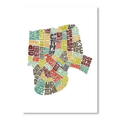 Americanflat New Orleans by Joe Brewton Typography on Canvas
