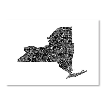 Americanflat New York by Joe Brewton Typography Wrapped on Canvas