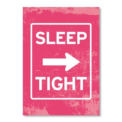 Americanflat Sleep Tight by Patricia Pino Typography on Canvas