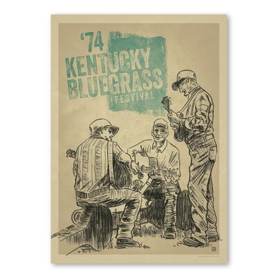 Americanflat Kentucky Bluegrass Festival by Music Festival Collection Vintage Advertisement