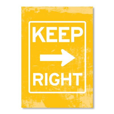 Americanflat Keep Right by Patricia Pino Graphic Art on Canvas