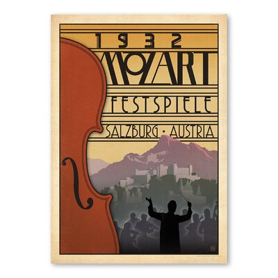 Americanflat 1932 Mozart Fest by Music Festival Collection Vintage Advertisement