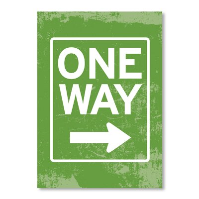 Americanflat One Way by Patricia Pino Typography Wrapped on Canvas