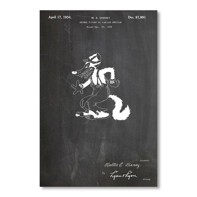 Americanflat Disney Wolf by House of Borders Graphic Art in Grey