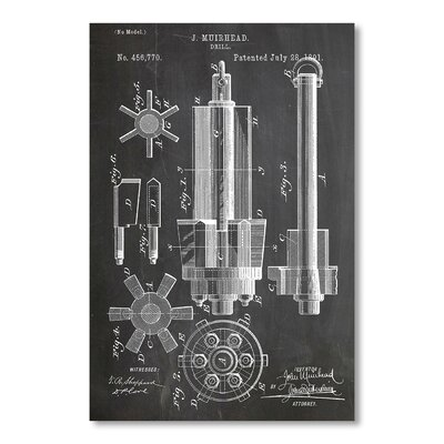 Americanflat Drill by House of Borders Graphic Art in Grey