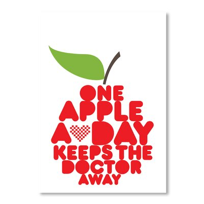 Americanflat One Apple a Day by Patricia Pino Graphic Art in Red