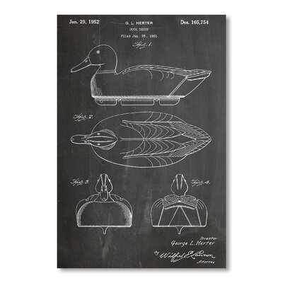 Americanflat Duck Decoy by House of Borders Graphic Art in Grey