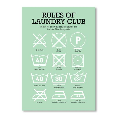 Americanflat Laundry Club by Patricia Pino Graphic Art in Green