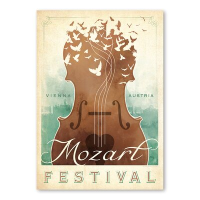 Americanflat Classical Music II by Music Festival Collection Vintage Advertisement in Brown