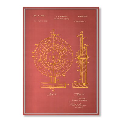 Americanflat Roulette Wheel Graphic Art Wrapped on Canvas