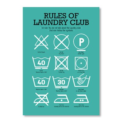 Americanflat Laundry Club by Patricia Pino Graphic Art in Teal
