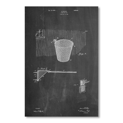 Americanflat Basketball Goal by House of Borders Art Graphic Art in Grey
