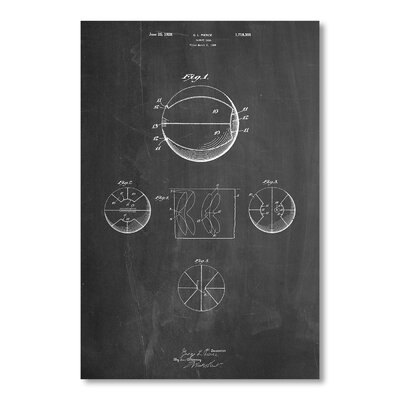 Americanflat Basketball by House of Borders Graphic Art in Grey