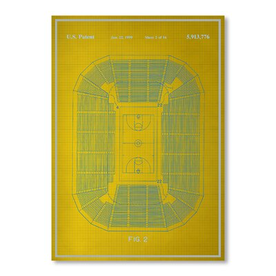 Americanflat Basketball Court by Blue Print Images Graphic Art in Yellow