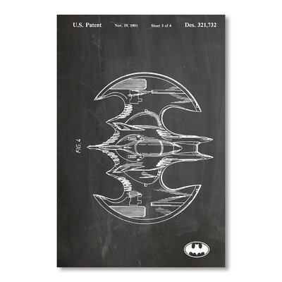 Americanflat Bat Wing by House of Borders Graphic Art in Grey