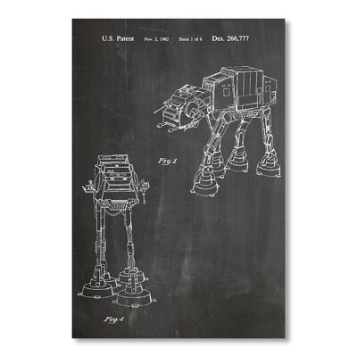 Americanflat Empire Strikes Back Vehicle by House of Borders Graphic Art in Grey
