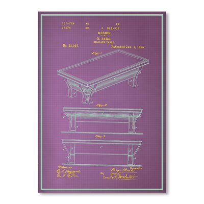 Americanflat Billiard Table by Blue Print Images Graphic Art