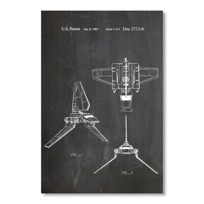 Americanflat Imperial Shuttle by House of Borders Graphic Art in Grey