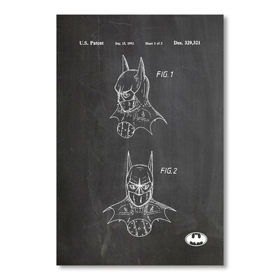 Americanflat Batman Mask by House of Borders Graphic Art in Grey