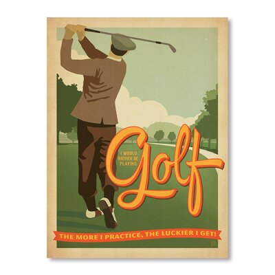 Americanflat Golf by Anderson Design Group Vintage Advertisement Wrapped on Canvas