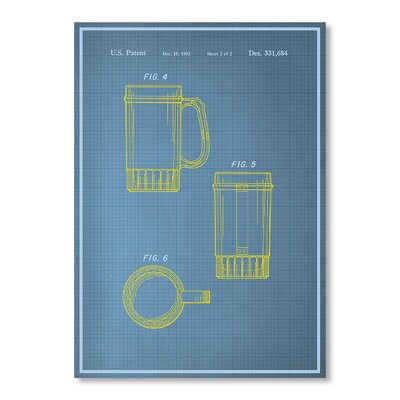 Americanflat Beer Stein II by Blue Print Images Graphic Art in Blue