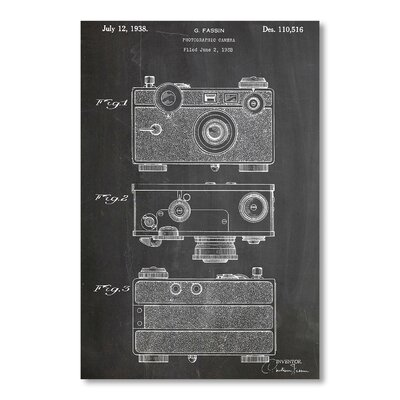 Americanflat Fassin Camera by House of Borders Graphic Art in Grey