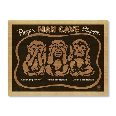 Americanflat Monkeys by Anderson Design Group Vintage dvertisement Wrapped on Canvas