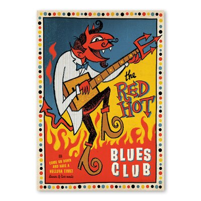 Americanflat Red Hot Blues by Music Festival Collection Vintage Advertisement
