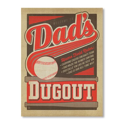 Americanflat Dads Dug Out by Anderson Design Group Vintage Advertisement Wrapped on Canvas
