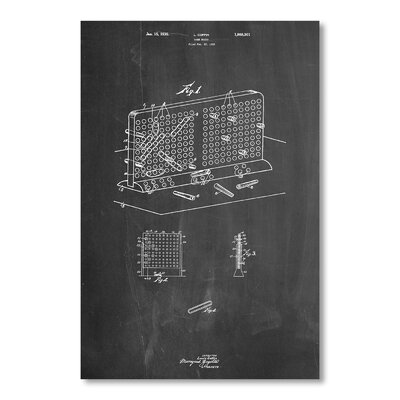 Americanflat Battleship by House of Borders Graphic Art in Grey