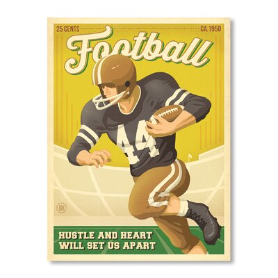 Americanflat Football New by Anderson Design Group Vintage Advertisement